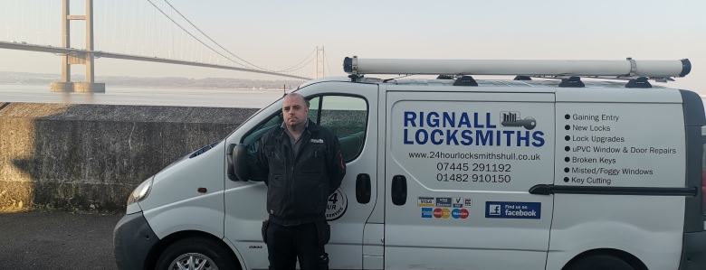 Rignall Locksmith Van - ready to attend your locksmith needs in or around Hull 24 hours a day
